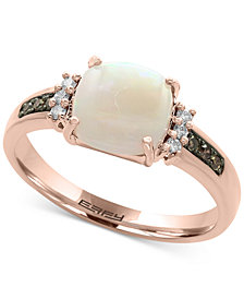 Final Call by EFFY® Opal (1-1/6 ct. t.w.) & Diamond (1/6 ct. t.w.) Ring in 14k Rose Gold