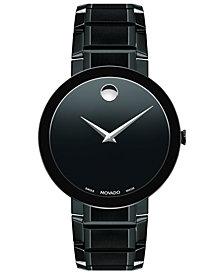 Movado Men's Swiss Sapphire Black PVD Stainless Steel Bracelet Watch 39mm