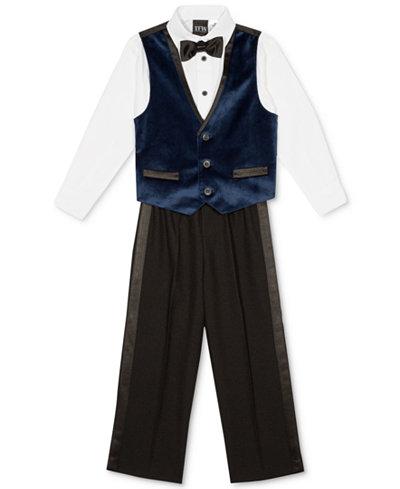 TFW 4-Pc. Shirt, Vest, Pants & Bowtie Set, Little Boys