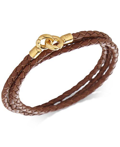 DEGS & SAL Men's Leather Wrap Bracelet