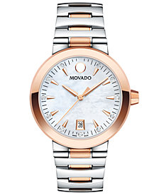 Movado Women's Swiss Vizio Diamond-Accent Two-Tone Stainless Steel Bracelet Watch 34mm