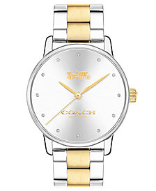 COACH Women's Two-Tone Stainless Steel Bracelet Watch 40mm