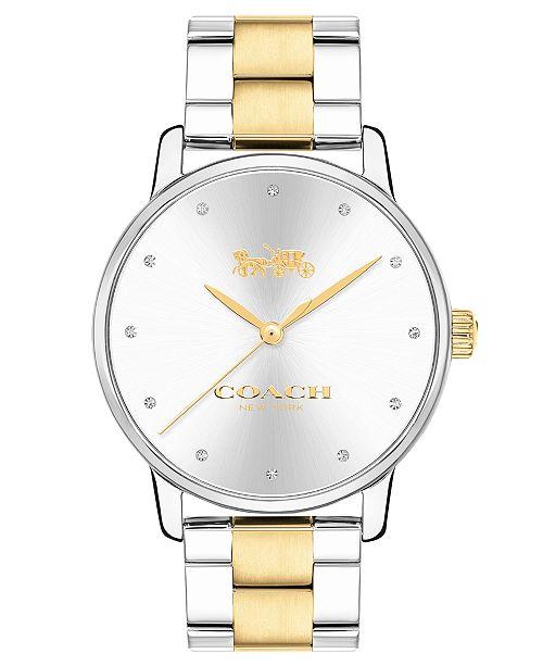 COACH Women's Two-Tone Stainless Steel Bracelet Watch 40mm