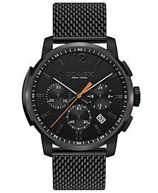 Men's Chronograph Bleecker Chrono Black Stainless Steel Mesh Bracelet Watch 42mm