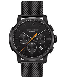 COACH Men's Chronograph Bleecker Chrono Black Stainless Steel Mesh Bracelet Watch 42mm