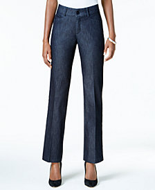 Lee Petite Madelyn Straight-Leg Trousers, Created for Macy's