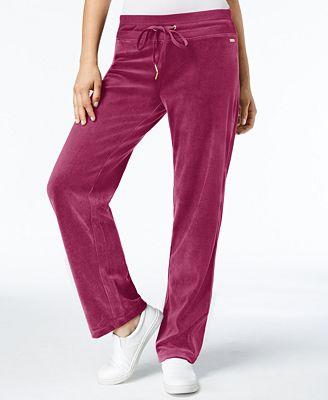 Calvin Klein Velour Jogger Pants, Created for Macy's