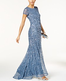 Adrianna Papell Beaded Ombre Gown