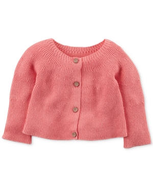 Carters ButtonFront Knit Cotton Cardigan Baby Girls (024 months)