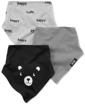 Carters 3Pk Panda  Prints Bandana Bibs Baby Boys (024 months)