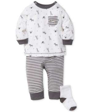 Little Me 3Pc Top Pants  Socks Set Baby Boys (024 months)