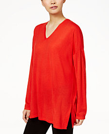 Eileen Fisher Wool V-Neck Tunic