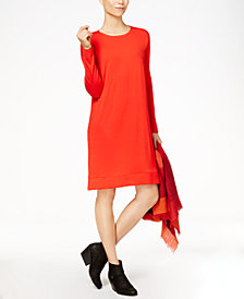 Eileen Fisher Stretch Jersey Surplice Dress, Regular & Petite