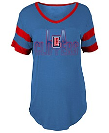 Women's Los Angeles Clippers Hang Time Glitter T-Shirt