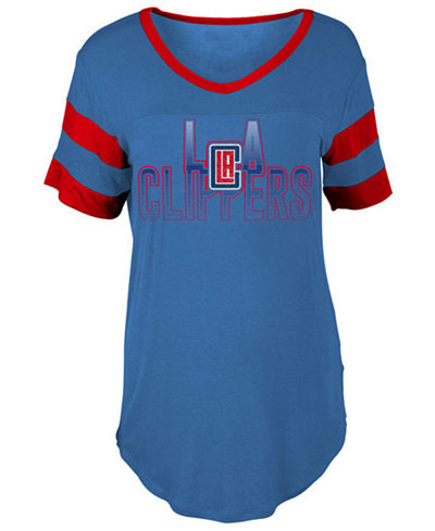 5th & Ocean Women's Los Angeles Clippers Hang Time Glitter T-Shirt