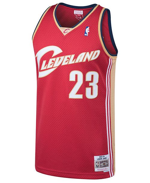 best website f4a92 4251b Men's LeBron James Cleveland Cavaliers Hardwood Classic Swingman Jersey