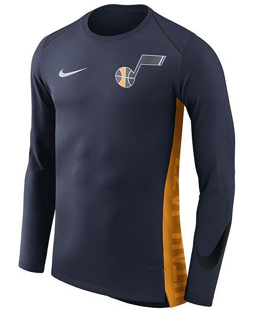 new style d8e9d 92f77 Men's Utah Jazz Hyperlite Shooter Long Sleeve T-Shirt