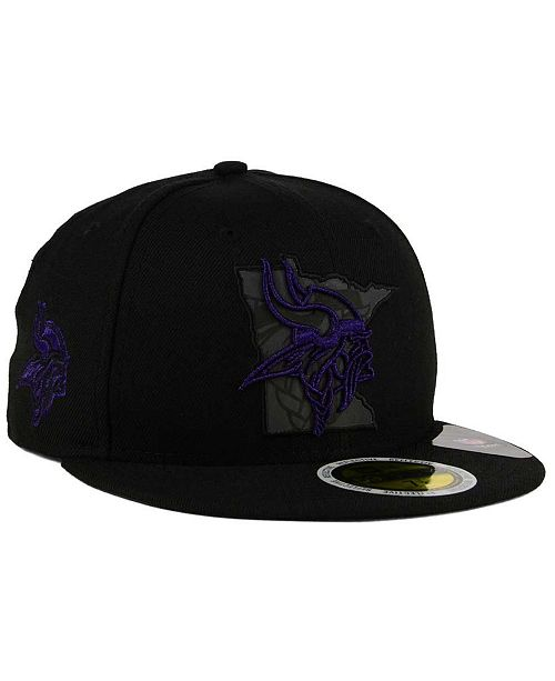 ... New Era Minnesota Vikings State Flective Metallic 59FIFTY Fitted Cap ... b5762fcbdc3