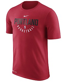 Nike Men's Portland Trail Blazers Dri-FIT Cotton Practice T-Shirt