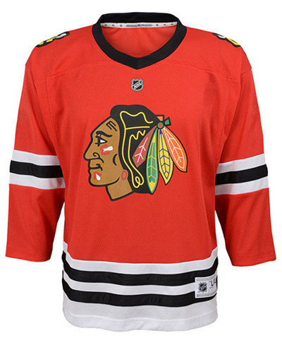 adidas Chicago Blackhawks Blank Replica Jersey, Little Boys (4-7)
