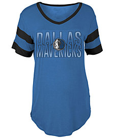 5th & Ocean Women's Dallas Mavericks Hang Time Glitter T-Shirt