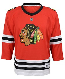 Authentic NHL Apparel Chicago Blackhawks Blank Replica Jersey, Big Boys (8-20)