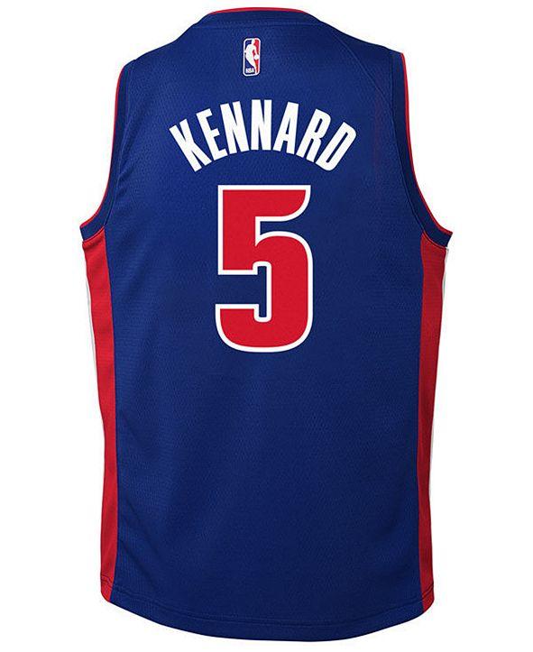 Nike Luke Kennard Detroit Pistons Icon Swingman Jersey, Big Boys (8-20)