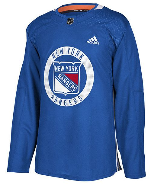 a83a10f2b adidas Men s New York Rangers Authentic Pro Practice Jersey - Sports ...