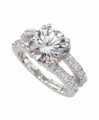 Image of Charter Club Ring Set, Silver-Tone Cubic Zirconia Engagement (6-3/8 ct. t.w.), Created for Macy's
