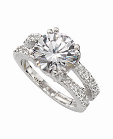 Charter Club Ring Set, Silver-Tone Cubic Zirconia Engagement (6-3/8 ct. t.w.), Created for Macy's