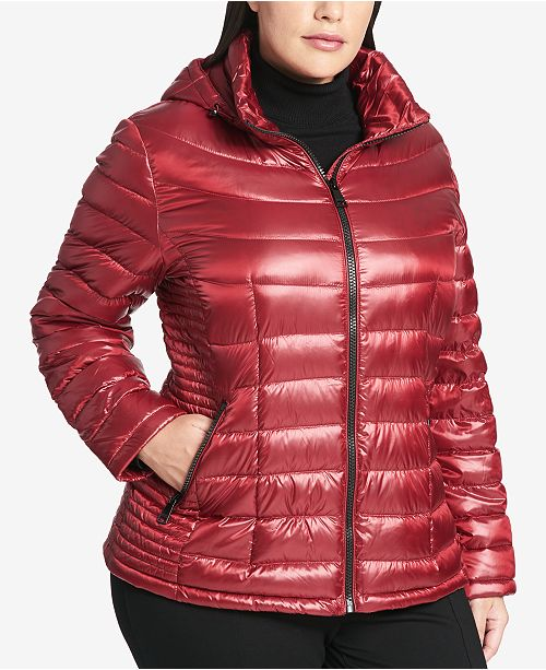 Calvin Klein Plus Size Packable Puffer Coat