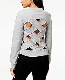RACHEL Rachel Roy Crisscross-Back Sweatshirt, Created for Macy's