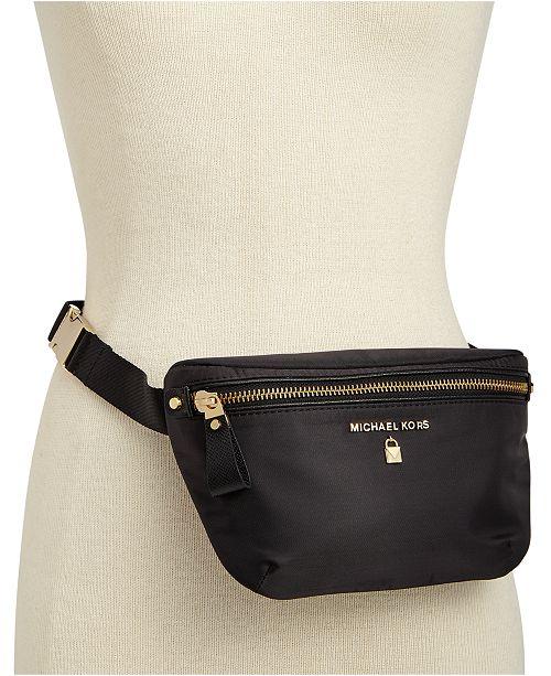 24088f09eba ... Michael Kors Nylon Plus-Size Fanny Pack, Created for Macy's ...