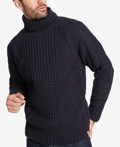 Weatherproof Vintage Men's Chunky Turtleneck Sweater - Sweaters ...