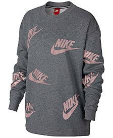 Nike Sportswear Futura Logo-Print Long-Sleeve Top