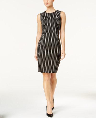 Calvin Klein Dot-Print Sheath Dress