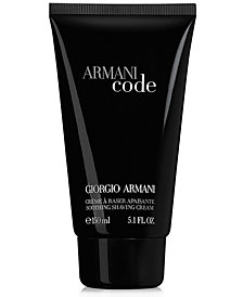 Giorgio Armani Armani Code for Men Shaving Cream, 5.1 oz