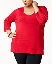 Love Scarlett Plus Size Braided-Back Tunic Sweater
