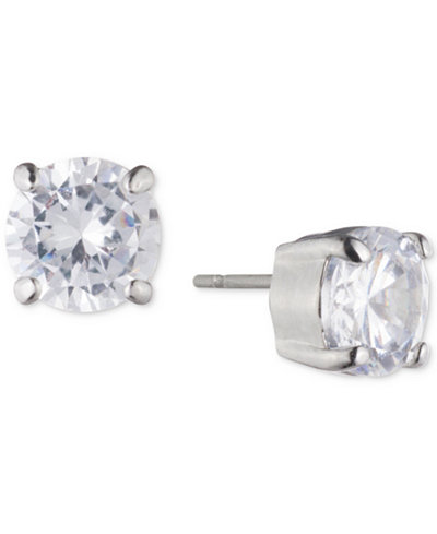 Carolee Silver-Tone Cubic Zirconia Stud & Hoop Jacket Earrings