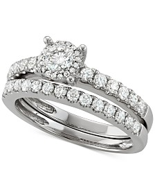 Diamond Bridal Set (1/4 ct. t.w.) in 14k White Gold