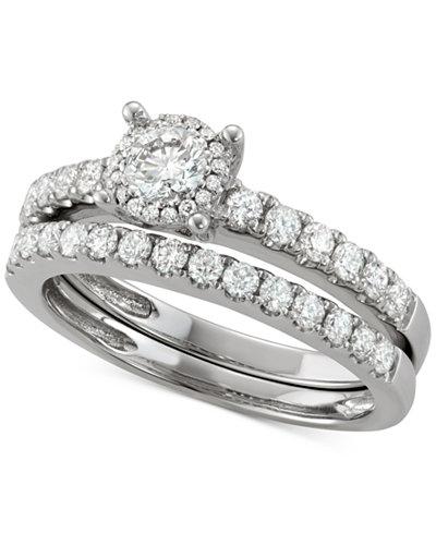 Diamond Bridal Set (1/4 ct. t.w.) in 14k White Gold
