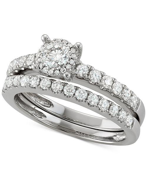 Macy S Diamond Bridal Set 1 4 Ct T W In 14k White Gold Reviews