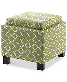 Shelley Storage Ottoman, Quick Ship