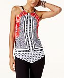 INC International Concepts Printed Hardware Halter Top, Created for Macy's