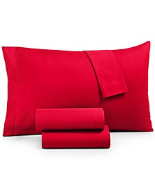 CLOSEOUT! Microfiber King 4-Pc Sheet Set, Created for Macy's