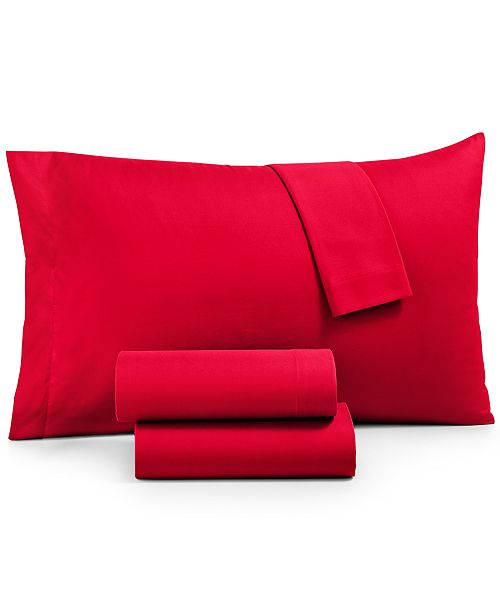 Jessica Sanders CLOSEOUT! Microfiber Queen 4-Pc Sheet Set, Created for Macy's