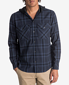 Quiksilver Men's Magston Plaid Hoodie-Shirt
