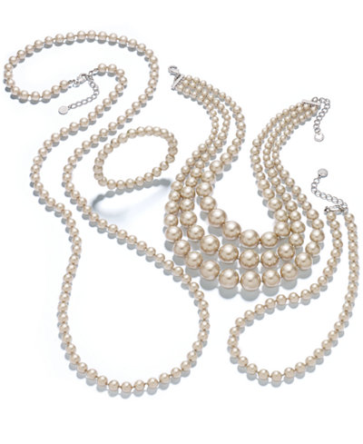 Charter Club Silver-Tone Imitation Pearl Jewelry Collection, Created for Macy's
