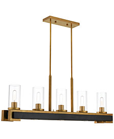 Livex Buttonwood 8-Light Linear Chandelier