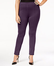 Style & Co Plus Size Seamed Ponte Leggings, Created for Macy's